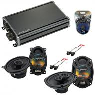 Compatible with Chevy Caprice 1994-1996 OEM Speaker Replacement Harmony R46 R69 & CXA360.4 Amp