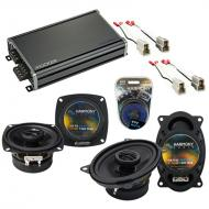 Compatible with GEO Metro 1992-1994 Factory Speaker Replacement Harmony R4 R46 & CXA360.4 Amp