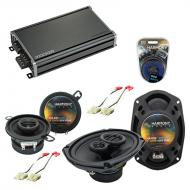 Compatible with Buick Skyhawk 1982-1989 OEM Speaker Replacement Harmony R35 R69 & CXA360.4 Amp