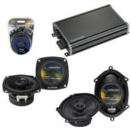 Compatible with GEO Prizm 1989-1992 Factory Speaker Replacement Harmony R4 R68 & CXA360.4 Amp