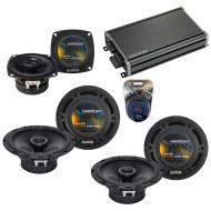 Compatible with Hummer H2 2008-2009 Factory Speaker Replacement Harmony (2) R65 R4 & CXA360.4...