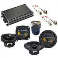 Compatible with Mazda RX7 1984-1985 Factory Speaker Replacement Harmony R4 R65 & CXA360.4 Amp