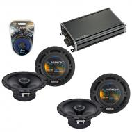 Compatible with Saab 9-5 1998-2005 Factory Speaker Replacement Harmony (2) R65 & CXA360.4 Amp