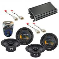 Compatible with Scion xB 2004-2015 Factory Speaker Replacement Harmony (2) R65 & CXA360.4 Amp
