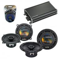 Compatible with Volvo S80 1999-2006 Factory Speaker Replacement Harmony R5 R65 & CXA360.4 Amp