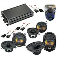 Compatible with Chrysler Yorker 84-93 OEM Speaker Replacement Harmony Speakers & CXA360.4 Amp