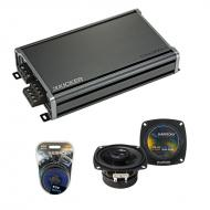Compatible with Honda Civic 1980-1983 OEM Speaker Replacement Harmony R4 & CXA360.4 Amplifier