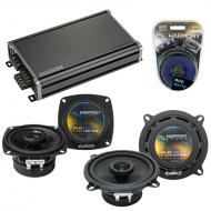 Compatible with Honda Passport 1994-1995 OEM Speaker Replacement Harmony R4 R5 & CXA360.4 Amp