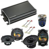 Compatible with Jeep Wrangler 1985-1996 OEM Speaker Replacement Harmony R46 R5 & CXA360.4 Amp