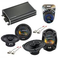 Compatible with Lincoln Mark VII 89-92 OEM Speaker Replacement Harmony R65 R69 & CXA360.4 Amp