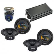 Compatible with Mercedes C-Class 05-07 OEM Speaker Replacement Harmony (2) R65 & CXA360.4 Amp
