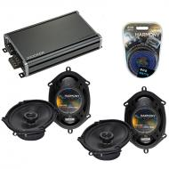 Compatible with Mercury Villager 96-02 OEM Speaker Replacement Harmony (2) R68 & CXA360.4 Amp