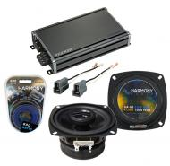 Compatible with Mitsubishi Mighty Max 87-96 OEM Speaker Replacement Harmony R4 & CXA360.4 Amp
