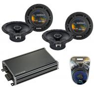 Compatible with Mitsubishi Outlander 03-16 OEM Speaker Replacement Harmony (2) R65 & CXA360.4...