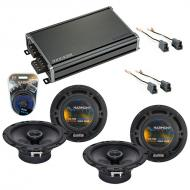 Compatible with Hyundai Santa Fe 2001-2006 Speaker Replacement Harmony (2) R65 & CXA360.4 Amp
