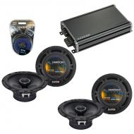 Compatible with Hyundai Santa Fe 2007-2008 Speaker Replacement Harmony (2) R65 & CXA360.4 Amp
