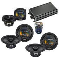 Compatible with Infiniti G35 (sedan) 07 Speaker Replacement Harmony (2) R65 R4 & CXA360.4 Amp