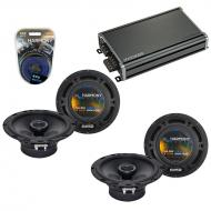 Compatible with Infiniti I35 2002-2004 Speaker Replacement Harmony (2) R65 & CXA360.4 Amp