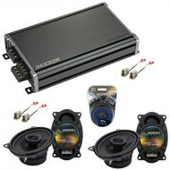 Compatible with Nissan 240SX 1989-1994 Speaker Replacement Harmony (2) R46 & CXA360.4 Amp