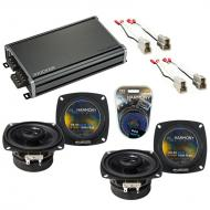 Compatible with Nissan Pulsar 1983-1986 Factory Speaker Replacement Harmony (2) R4 & CXA360.4