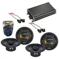 Compatible with Saturn S Series 2000-2002 OEM Speaker Replacement Harmony (2) R65 & CXA360.4 Amp