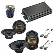 Compatible with Acura Vigor 1992-1994 Factory Speaker Replacement Harmony R65 R69 & CXA360.4 Amp