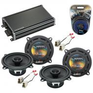 Compatible with Nissan Stanza 1982-1986 Factory Speaker Replacement Harmony (2) R5 & CXA360.4