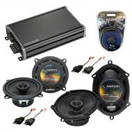 Compatible with Dodge Shadow 1987-1995 Factory Speaker Replacement Harmony R5 R68 & CXA360.4 Amp