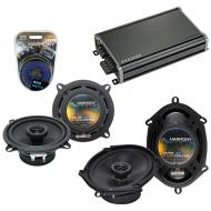 Compatible with Dodge Spirit 1995-1995 Factory Speaker Replacement Harmony R5 R68 & CXA360.4 Amp