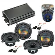 Compatible with Plymouth TC3 1981-1982 Factory Speaker Replacement Harmony (2) R5 & CXA360.4 Amp