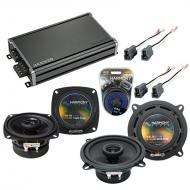 Compatible with Toyota Celica 1982-1985 Factory Speaker Replacement Harmony R4 R5 & CXA360.4 Amp