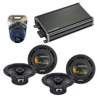 Compatible with Toyota RAV4 1996-2000 Factory Speaker Replacement Harmony (2) R65 & CXA360.4 Amp
