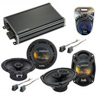 Compatible with Hyundai Tiburon 2003-2008 OEM Speaker Replacement Harmony R65 R69 & CXA360.4 Amp