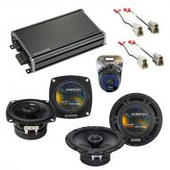 Compatible with Audi 5000 Series 1980-1985 OEM Speaker Replacement Harmony R4 R65 & CXA360.4 Amp