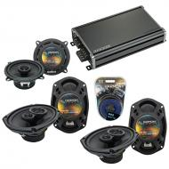 Compatible with Dodge Grand Caravan 08-17 OEM Speaker Replacement Harmony (2) R69 & CXA360.4 Amp