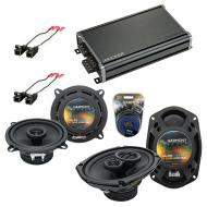 Compatible with Buick Roadmaster 1995-1996 OEM Speaker Replacement Harmony R5 R69 & CXA360.4 Amp