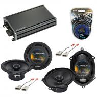 Compatible with Ford Escort/ZX2 1997-2004 OEM Speaker Replacement Harmony R65 R68 & CXA360.4 Amp