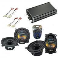 Compatible with Jeep Comanche Pickup 86-92 OEM Speaker Replacement Harmony R5 R46 & CXA360.4 Amp
