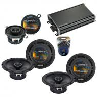 Compatible with Lexus RX300 99-03 OEM Speaker Replacement Harmony (2) R65 R35 & CXA360.4 Amp