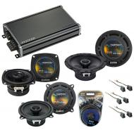 Compatible with Mitsubishi Mirage 93-96 OEM Speaker Replacement Harmony R4 R5 R65 & CXA360.4 Amp