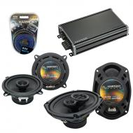 Compatible with Plymouth Horizon 1984-1990 OEM Speaker Replacement Harmony R5 R69 & CXA360.4 Amp
