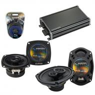 Compatible with Pontiac Grand AM 1985-1991 OEM Speaker Replacement Harmony R4 R69 & CXA360.4 Amp