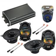 Compatible with Pontiac Sunfire 1995-1999 OEM Speaker Replacement Harmony R46 R69 & CXA360.4 Amp