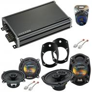 Compatible with Dodge Ram 1500 2002-2008 Factory Speaker Replacement Speakers & CXA360.4 Amp