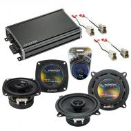 Compatible with Subaru Justy 1987-1994 Factory Speaker Replacement Harmony R46 R5 & CXA360.4