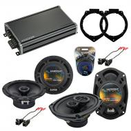 Compatible with Chevy Malibu Classic 2008 OEM Speaker Replacement Harmony R65 R69 & CXA360.4 Amp