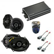 Compatible with Ford Econoline Full Size Van 86-91 Speaker Replacement Kicker DS Pack & CXA360.4