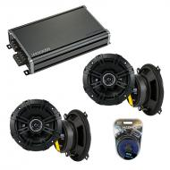 Compatible with BMW 320i 1977-1989 Factory Speaker Replacement Kicker (2) DSC5 & CXA360.4lifier