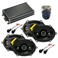 Compatible with Ford Escape 2001-2012 Factory Speaker Replacement Kicker (2) DSC68 & CXA360.4