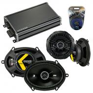 Compatible with Dodge Spirit 1995-1995 Factory Speaker Replacement Kicker DSC5 DSC68 & CXA360.4